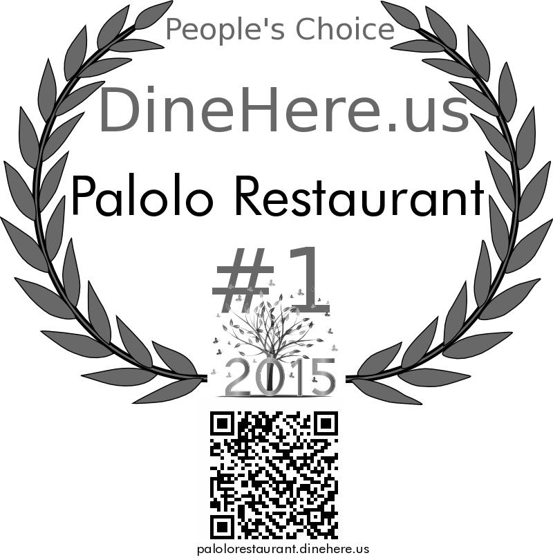 Palolo Restaurant DineHere.us 2015 Award Winner